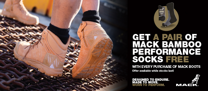 Free Socks with Mack boot purchase Banner 711x311px