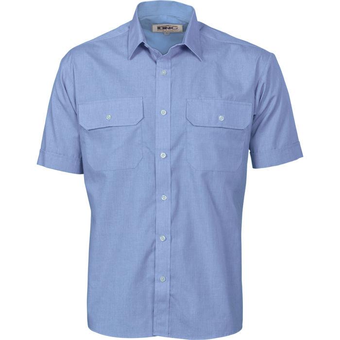dnc 3211 polyester cotton work shirt short sleeve