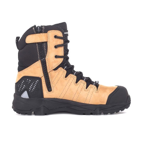 9fe5539a164 Mack Boots- Terrapro Leather Work Safety Boot with Side Zip, Composite Toe  Bump Cap