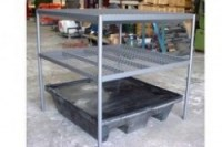 Two Shelf Bund Rack to suit 4 Drum Bund